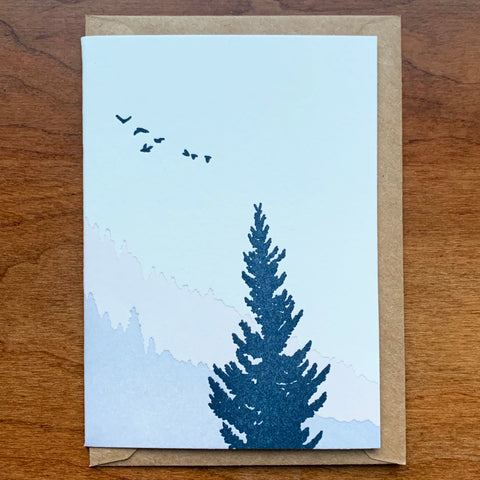Forest Sunrise Card