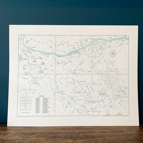 Portland and the Columbia Gorge Map Print