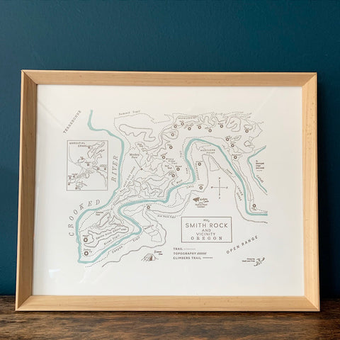 Smith Rock State Park Map Print