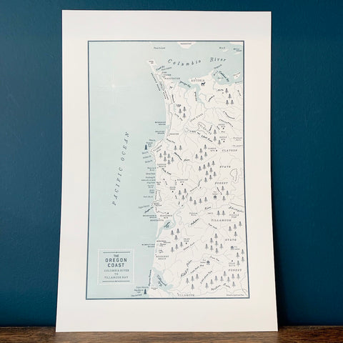 Oregon Coast Map Print