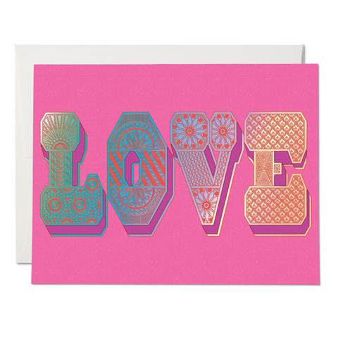 Love Typography Card