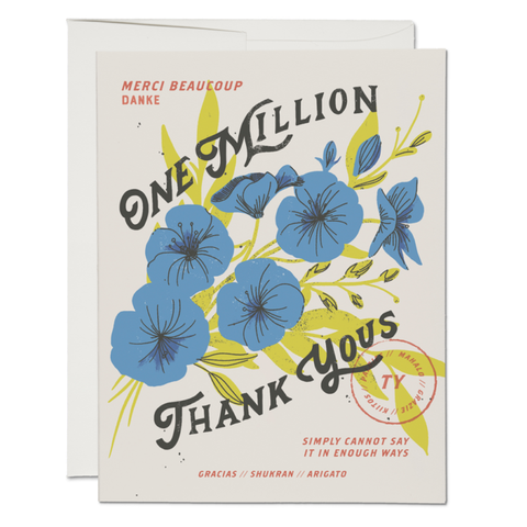 One Million Thanks Card