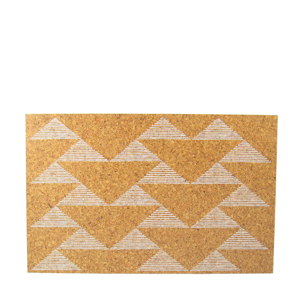 Triangles Cork Placemat Set