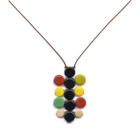 Multi-bud Stacked Pendant Necklace