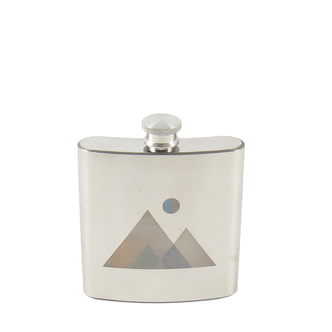 Natured Etched Stainless Flask