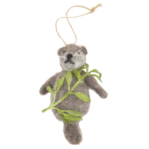 Frolicking Sea Otter Ornament