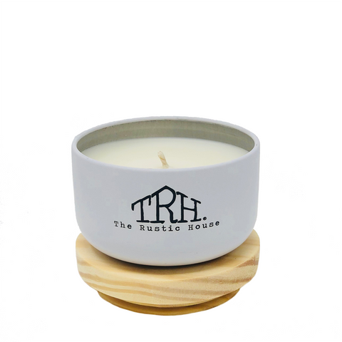 The Rustic House Wood Top Mini Candle