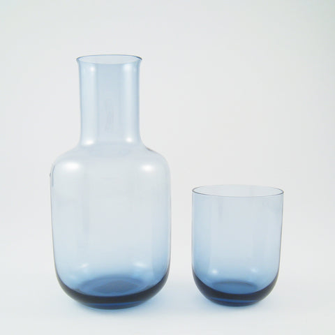 Glass Decanter and Cup Set