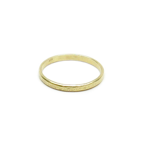 CLEARANCE - Weathered 14K Gold Stacker Band Ring