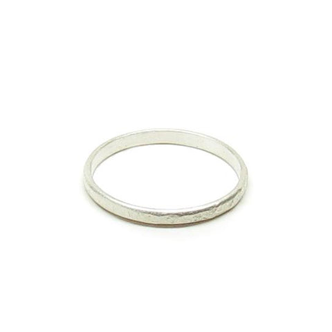 Weathered Silver Stacker Band Ring