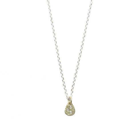 CLEARANCE - Weathered Droplet Necklace