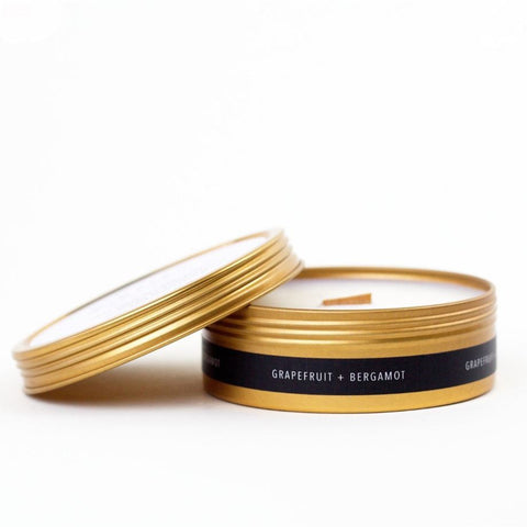 Simply Curated Gold Tin Travel Candle