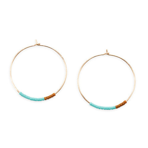 Septima Pattern Hoop Earrings