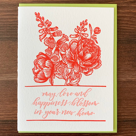 CLEARANCE - New Home Floral Card