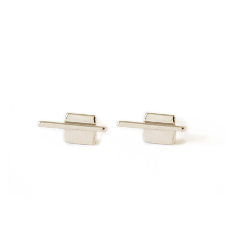 Linear Square Earrings