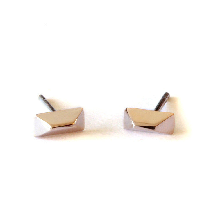 Faceted Trapezoid Earrings
