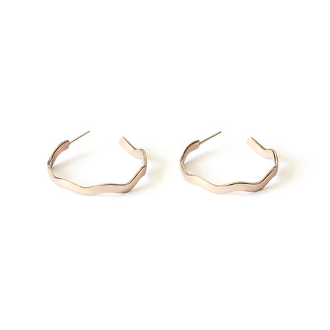 Small Wave Hoop Earrings - Sale