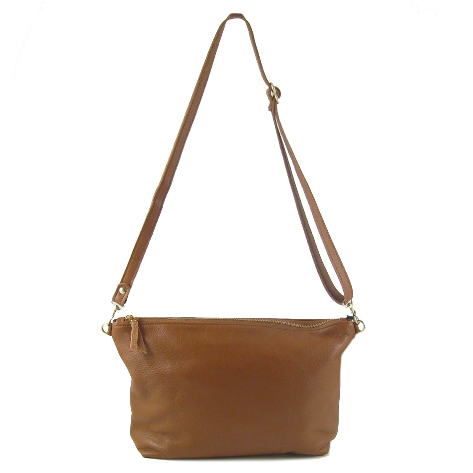 MIDI Leather Hobo Bag