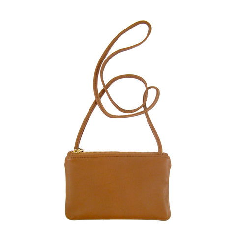 Leather Micro Crossbody Bag