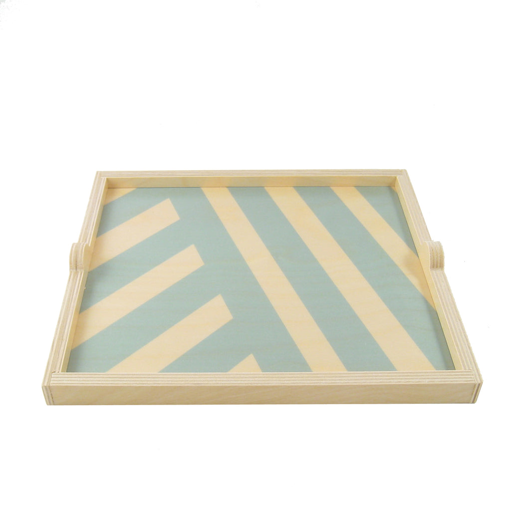 Stripe Square Tray