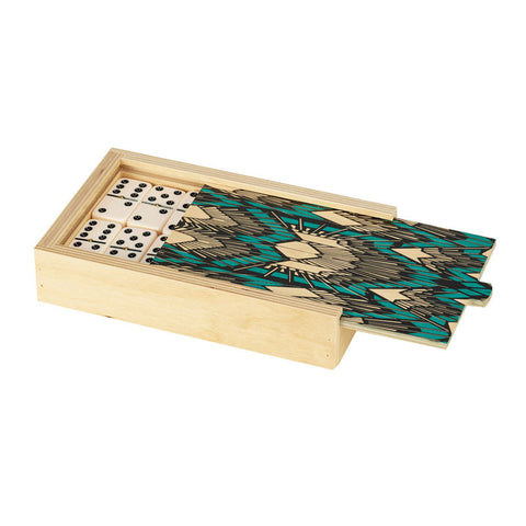 Deco Teal Domino Set