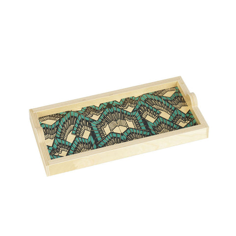 Deco Teal Mini Tray