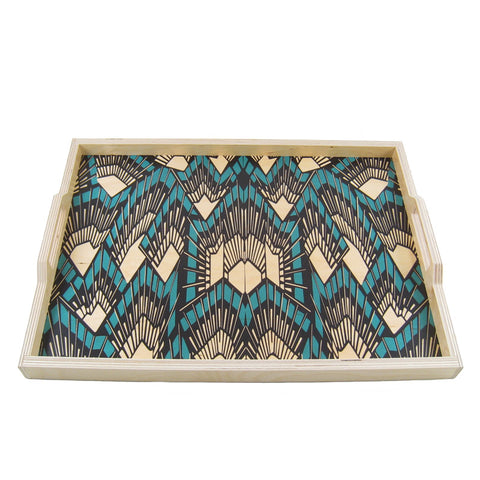 Deco Teal Tray