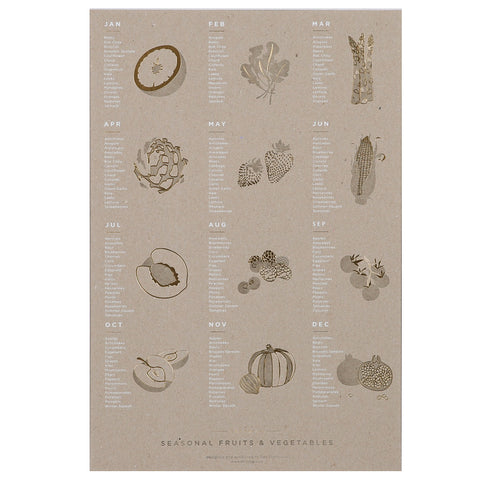 Fruits and Vegetables Seasonal Poster