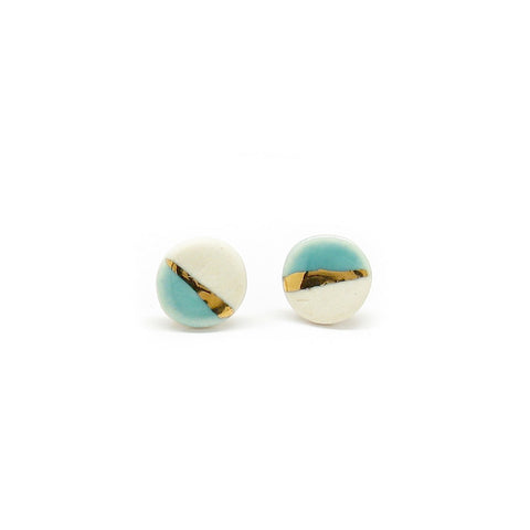 Large Pebble Stud Earrings