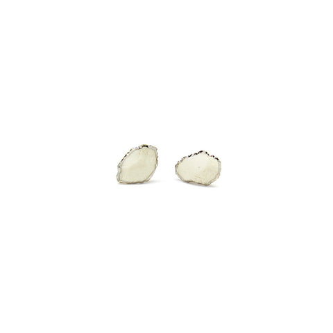 Large Raw Edge Stud Earrings