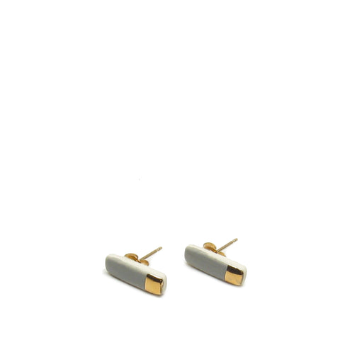 Tiny Reed Stud Earrings