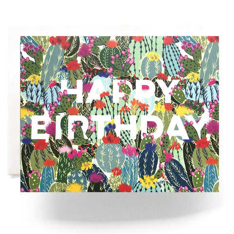 Cactus Explosion Birthday Card