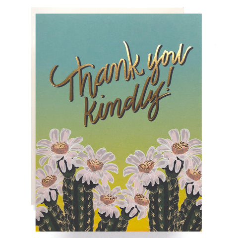 Cactus Ombre Thank You Card