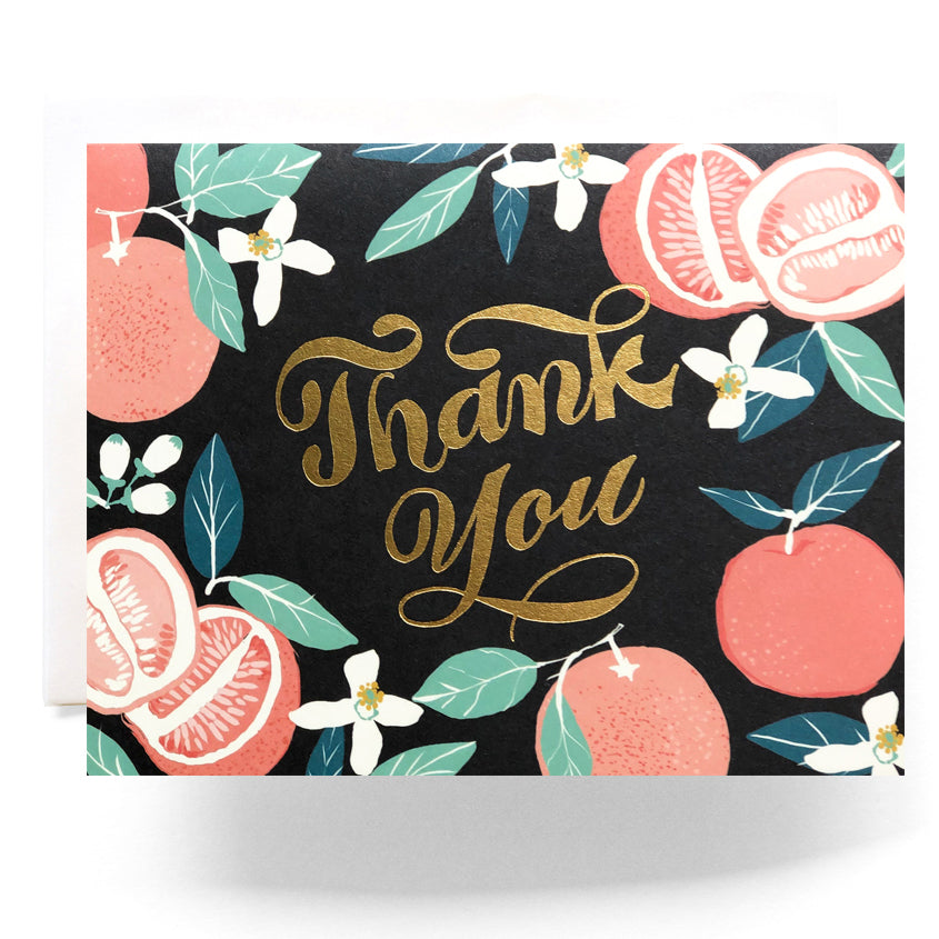 Grapefruit Thanks Card