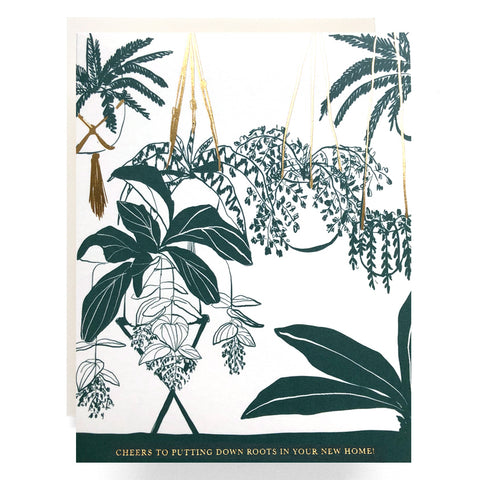 House Plant House Warming Card