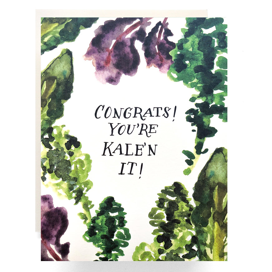 CLEARANCE - Kale'n It Congrats Card