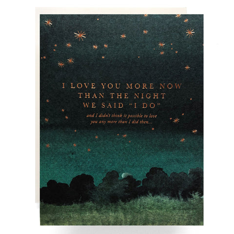 "The Night We Said ""I Do"" Card"