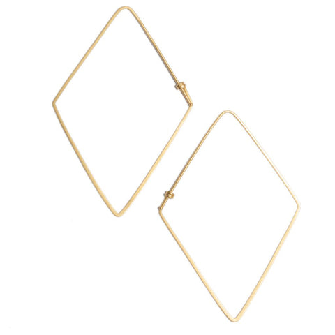 Rhombus Dainty Hoop Earrings