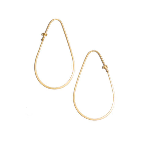 Small Teardrop Hoop Earrings