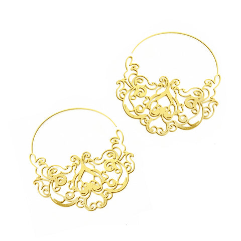 Pattern No. 6 Tiny Hoop Earrings