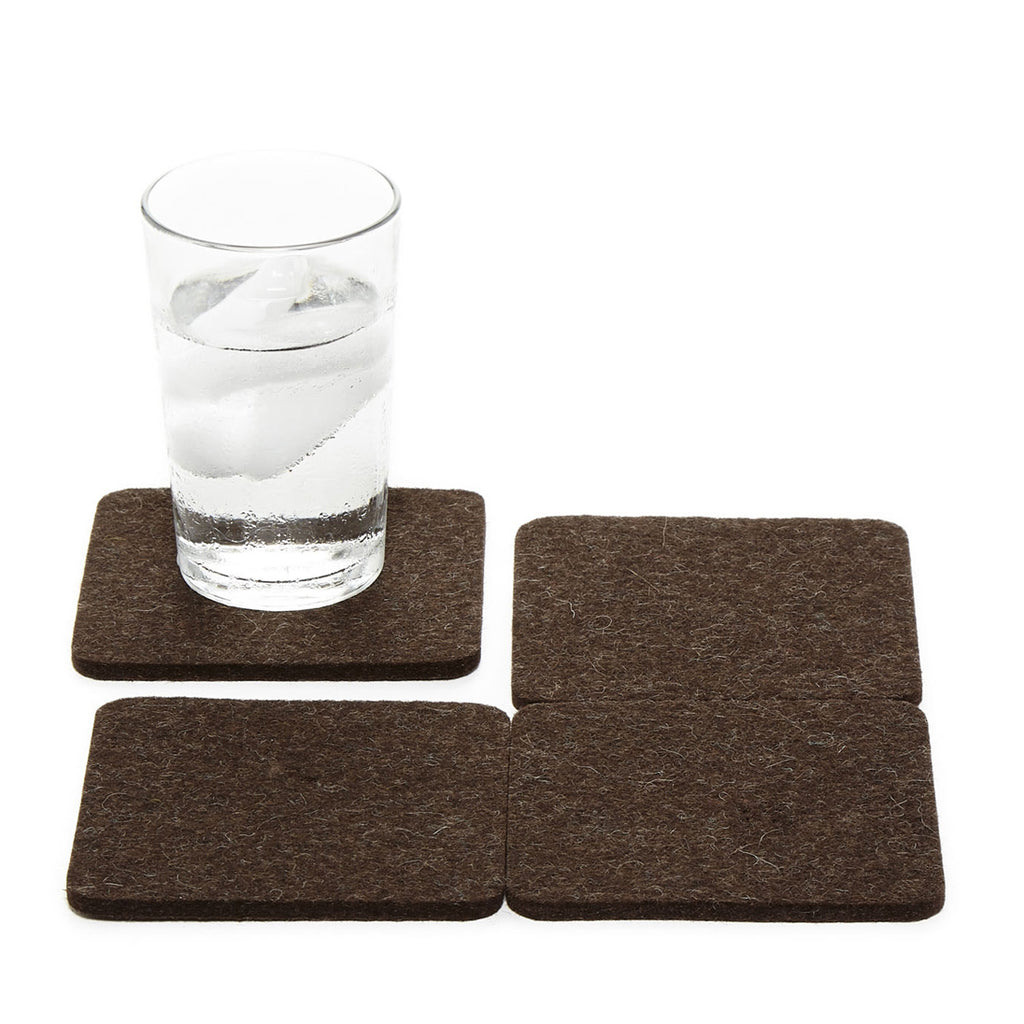 Bierfilzl Square Coaster Set