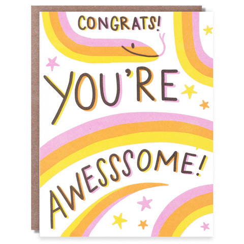 Awesssome Congrats Card
