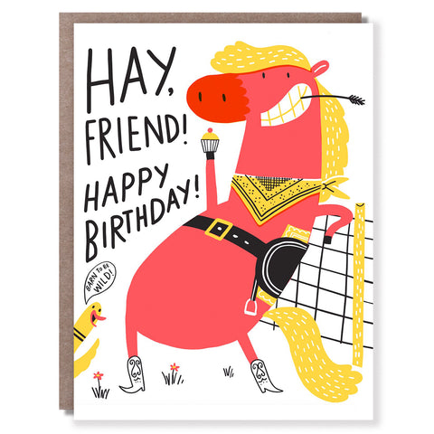 Hay Birthday Card