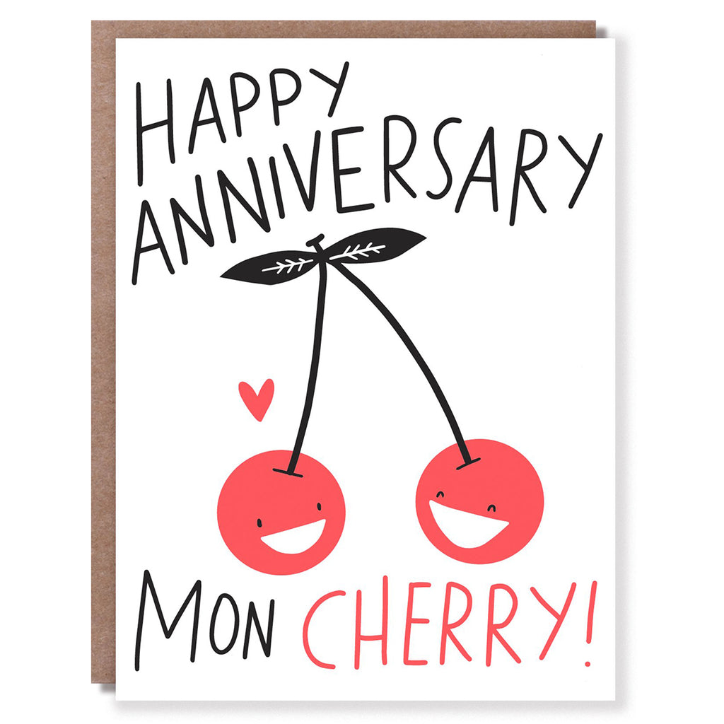 CLEARANCE - Mon Cherry Anniversary Card