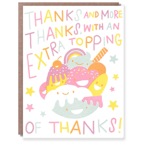 Sundae Thank You Card
