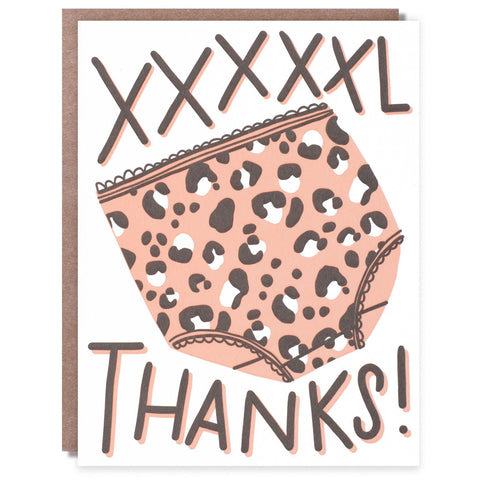 CLEARANCE - XXXXXL Thank You Card