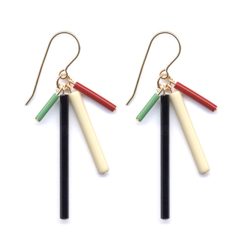 Bar Burst Earrings