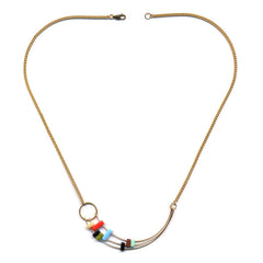 Shooting Multi-bar Arc Necklace