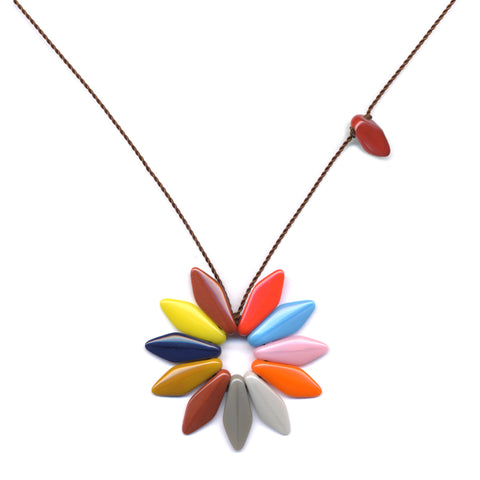 Bright Flower Pendant Necklace