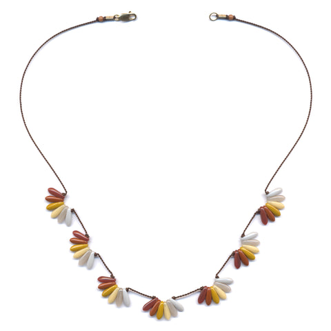 Autumn Scallops Necklace